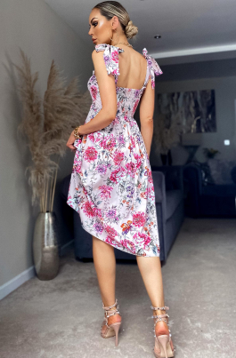Kjole - Saria flerfarget rosa