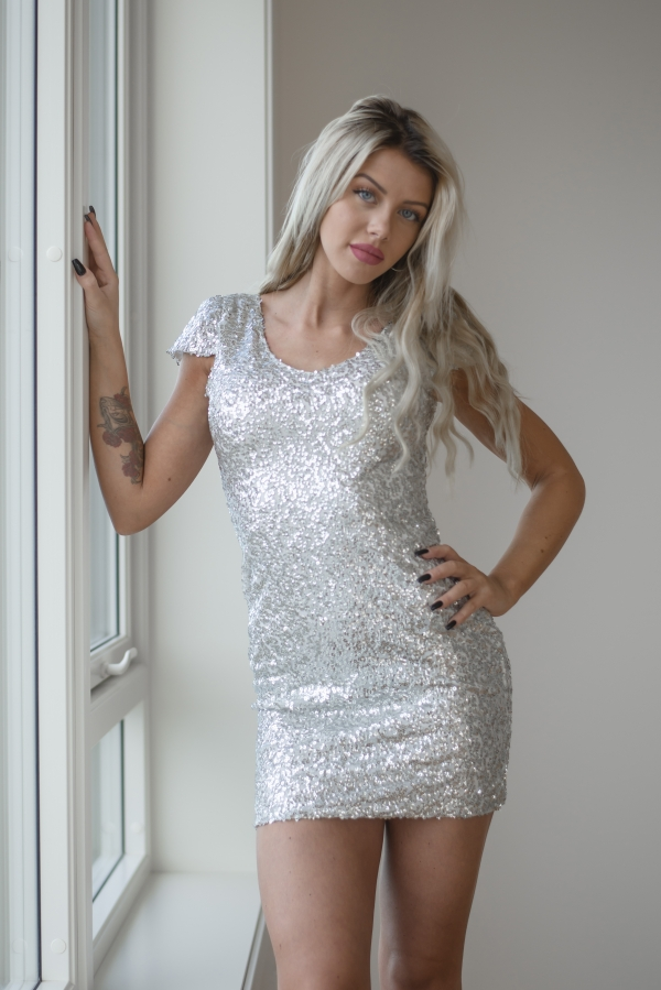 Kjole -North Exclusive Party Silver