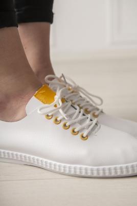 Sneakers - Selma hvit/gul