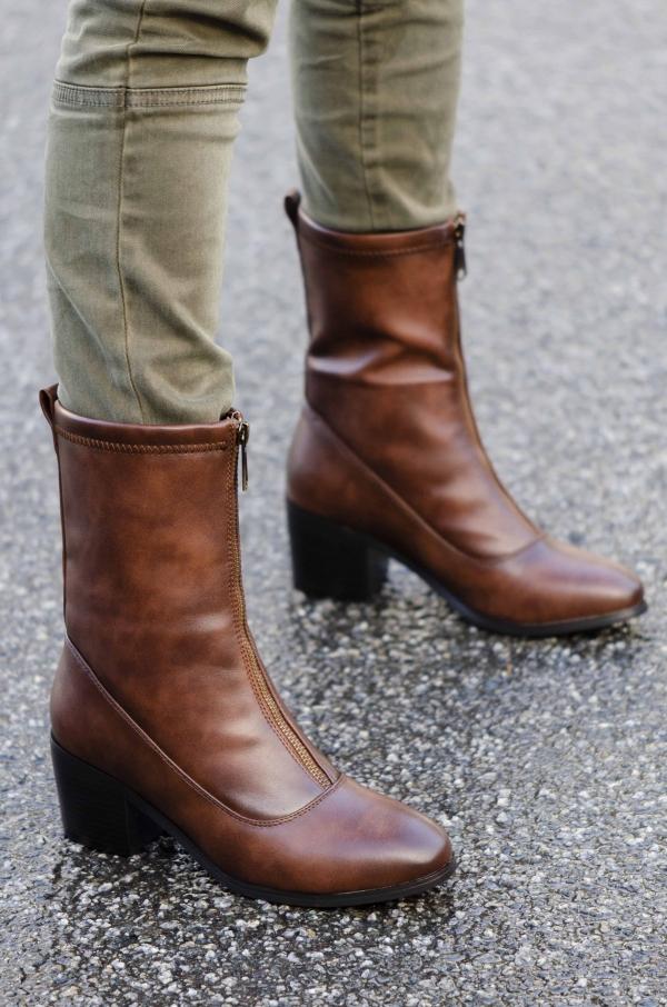 Støvletter - Celine brun