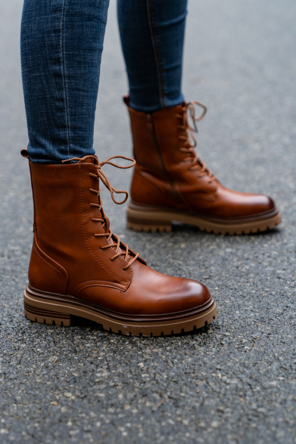 Boots - Alberte camel