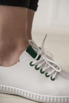 Sneakers - Selma hvit/grønn