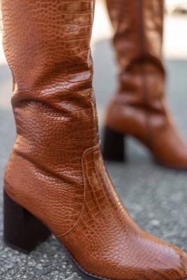 Støvletter - Berit kamel