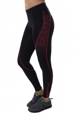 Treningstights - Craft Delta Compression long tights Svart/Rosa