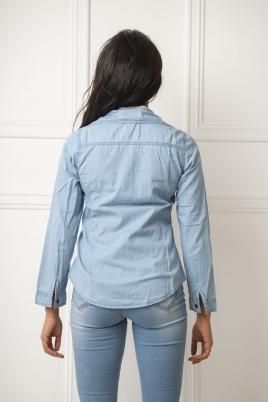 Skjorte -Connie blå
