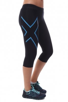 2XU - Compression Tights 3/4 svart/blå