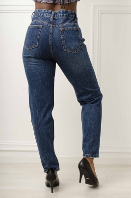 Jeans - Cassy Mom Fit blå