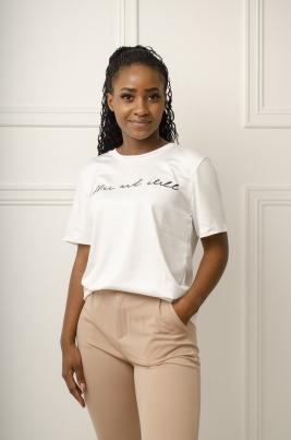 T-Skjorte - Tasha hvit