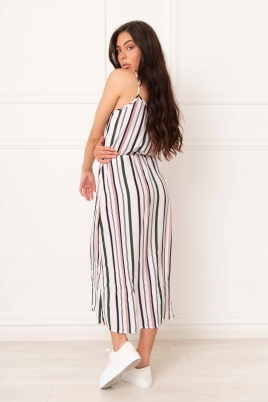 Kjole - Cami flerfarget striper
