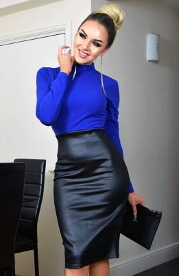 Kjole - Meghan blå