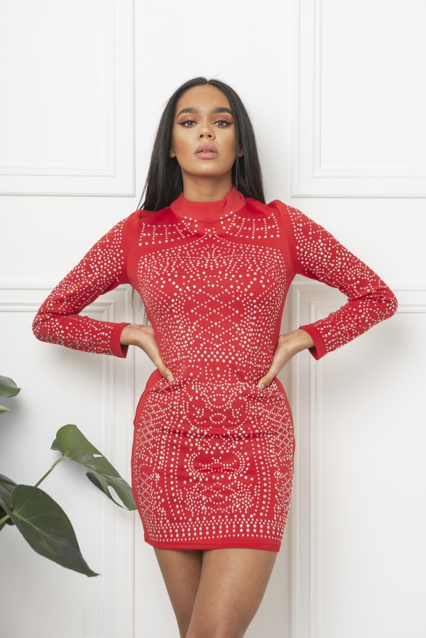 Kjole - North Exclusive Bodycon Rød