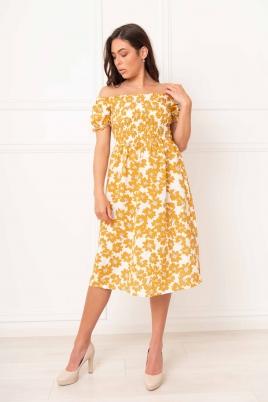 Kjole - Beate gul
