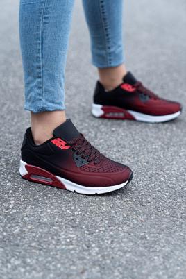Sneakers - Åse rød/svart
