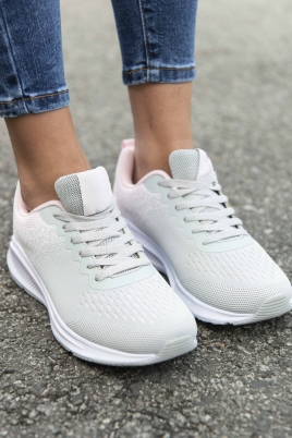 Sneakers - Jorunn grå/rosa