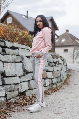 Hummel - HMLKyra pants grå/rosa