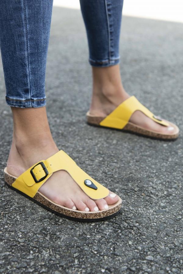 Sandaler - Sandra gul