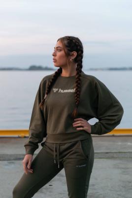 Hummel - hmlSTELLA Sweatshirt khaki