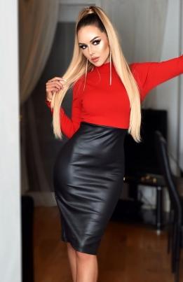 Kjole - Meghan rød
