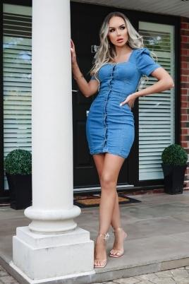 Kjole - Monika blå