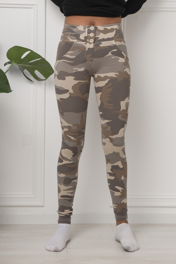 Bukse - WR.UP® Ligth Camouflage mid-rise-rise super skinny trousers