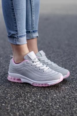 Sneakers - Kristine Grå/rosa